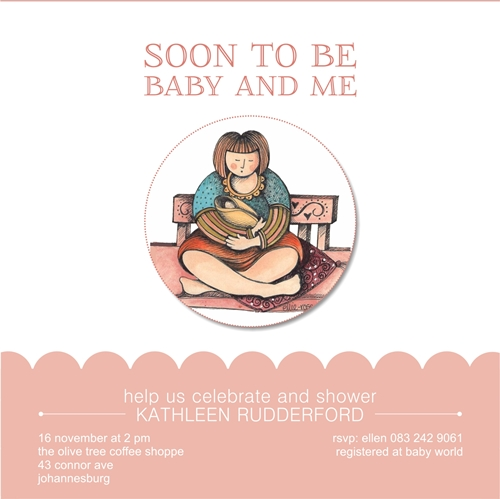 baby shower invitations - baby and me by Ellie Rose
