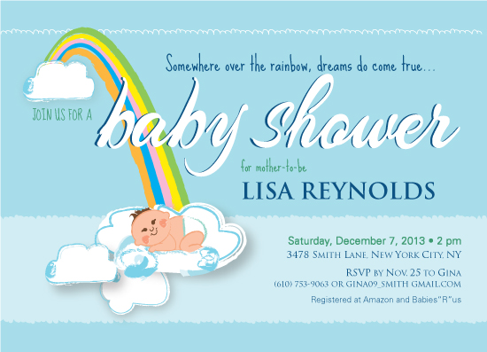 baby shower invitations - Dreamy Baby by EN Rault