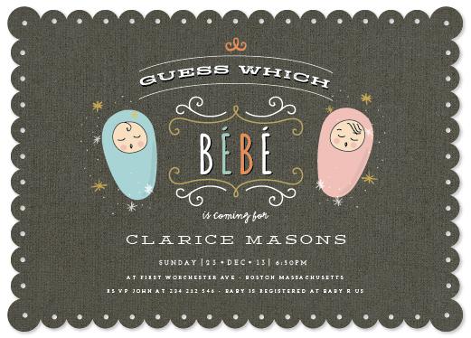 baby shower invitations - affogato by chocomocacino