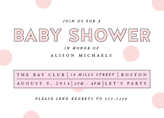 baby shower invitations - Polka Dot Confetti by Paperful Press