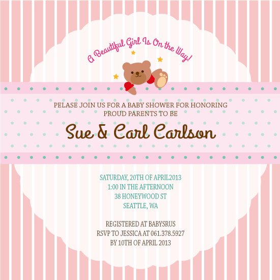 baby shower invitations - A Beautiful Baby Girl! by Claire Hahm