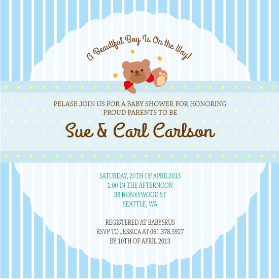 baby shower invitations - A Beautiful Boy! by Claire Hahm