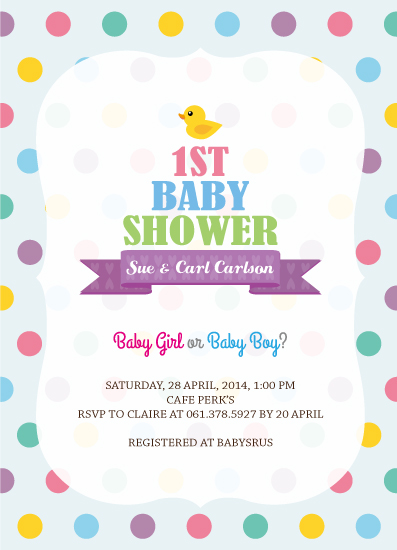 baby shower invitations - 1st Baby Shower by Claire Hahm