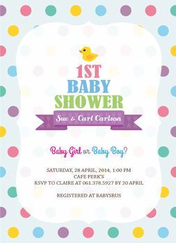 1st Baby Shower