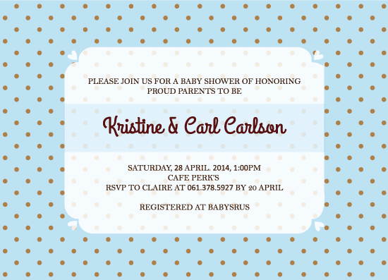baby shower invitations - Simple Invitation for Baby Boy by Claire Hahm