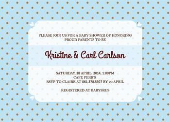 Simple Invitation for Baby Boy