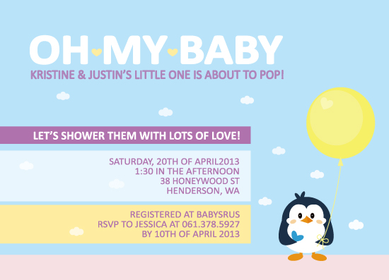 baby shower invitations - Oh My Baby by Claire Hahm