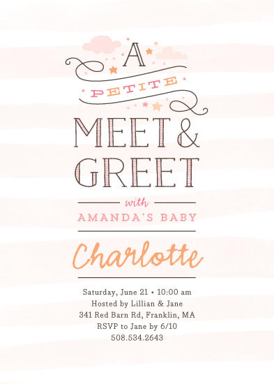 baby shower invitations - Petite meet & greet at Minted.com