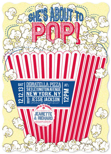 baby shower invitations - Fresh Popcorn by JaxRobyn