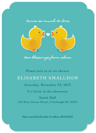 baby shower invitations - Twins are Just Ducky! by Loree Mayer