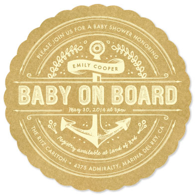 baby shower invitations - Nautical by Smudge Design