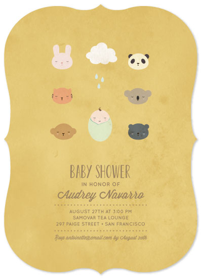 baby shower invitations - Sleepy Friends by Milk and Marrow
