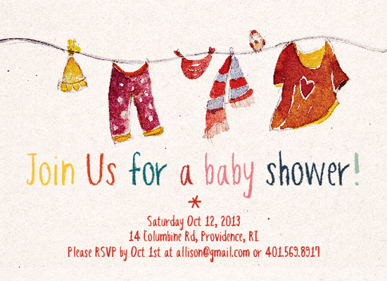 baby shower invitations - watercolor love by Ling Zhou