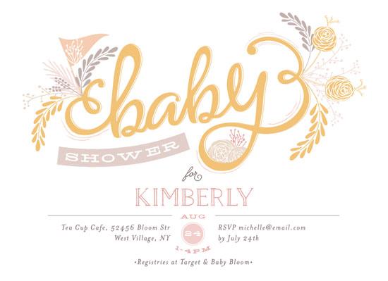 baby shower invitations - Baby by Phrosne Ras