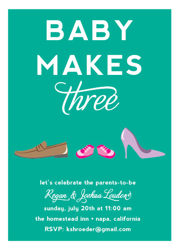 baby shower invitations - Family Footwear by Roseville Designs