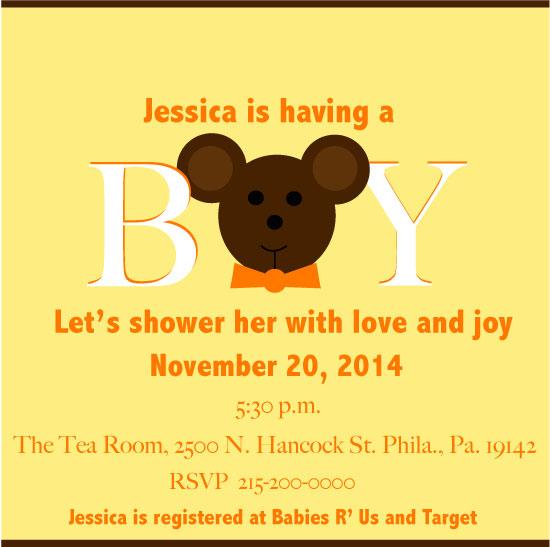 baby shower invitations - BearLove by Ayana Jones