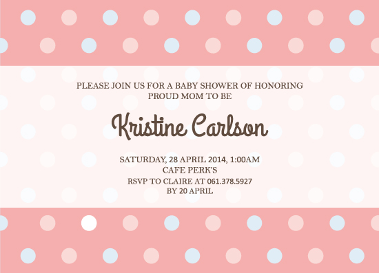 baby shower invitations - Simple Baby Shower Invitation by Claire Hahm