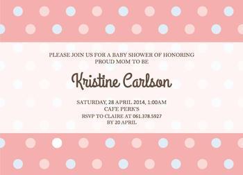 Simple Baby Shower Invitation