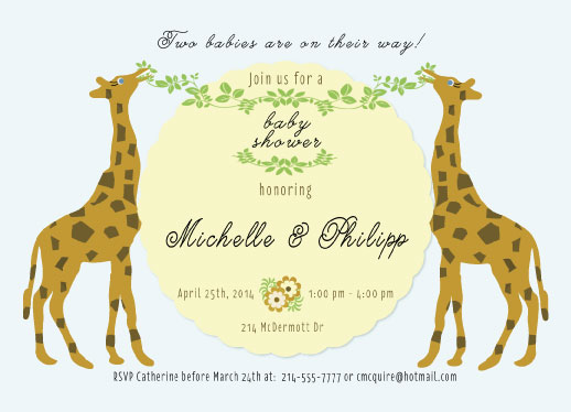 baby shower invitations - Double the Fun by Cindy Jost
