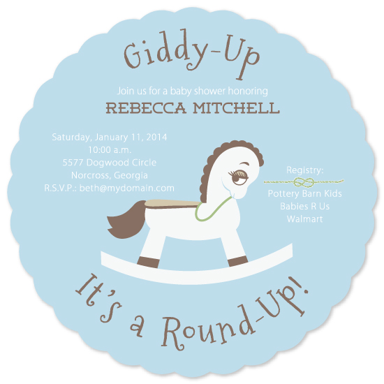 baby shower invitations - Giddy-Up by Beth Beaver
