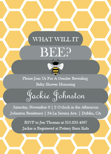 baby shower invitations - What Will It BEE? by Samantha