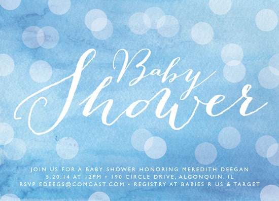 baby shower invitations - Watercolored Baby by Erin Deegan