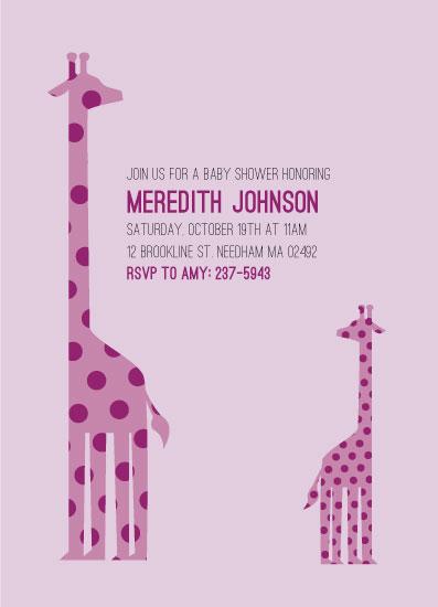 baby shower invitations - Giraffe Baby by Kaylie Allen