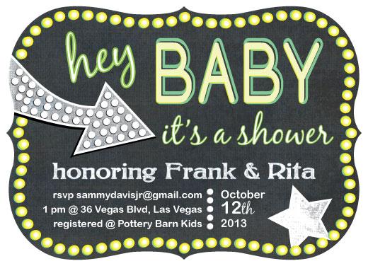 baby shower invitations - Vegas Baby! by J.C.C.