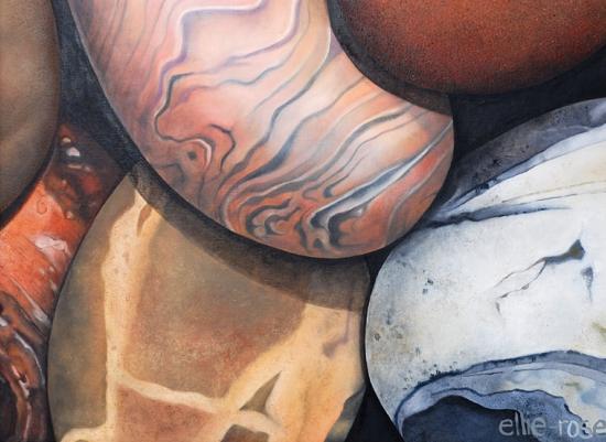 art prints - Pebbles Make a Good Road by Ellie Rose