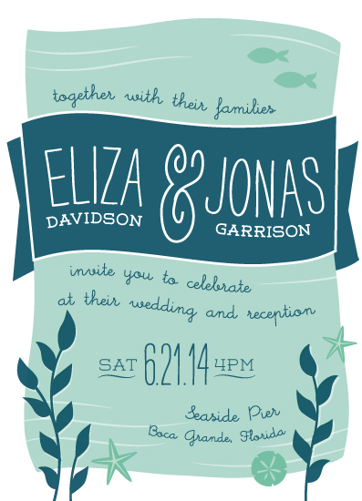 Wedding Invitations Under The Sea By Jessie Steury