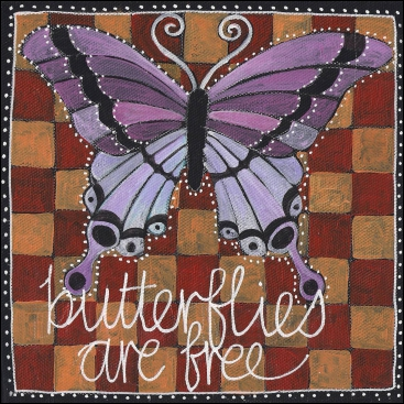 art prints - BUTTERFLIIES ARE FREE by Ellie Rose