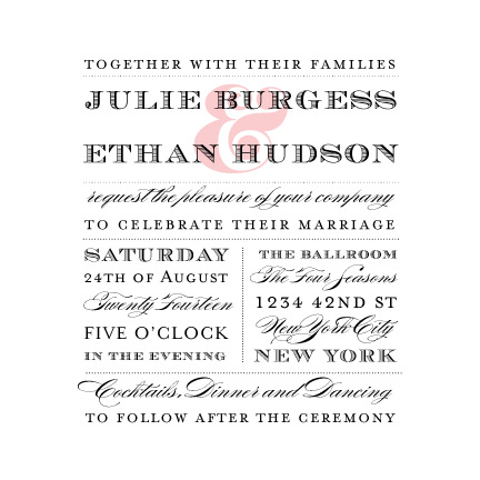 wedding invitations - For the Love of Type by Coco and Ellie Design