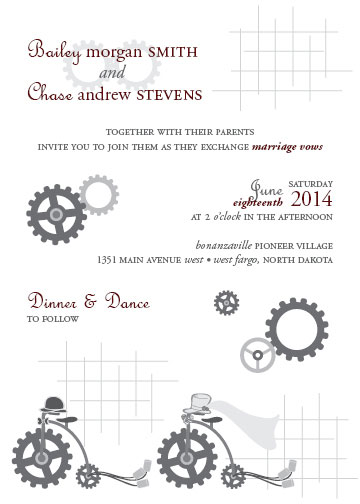 wedding invitations - Industrialized Love by Brittani Mulvaney