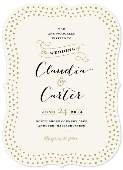 wedding invitations - Milkglass border by Jennifer Wick