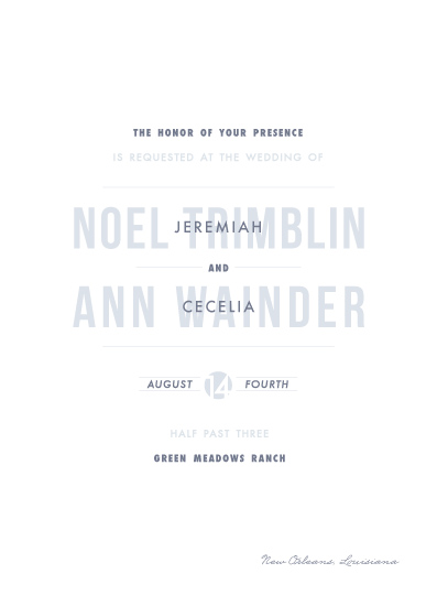 wedding invitations - Simply Letterpress by Bethany Anderson
