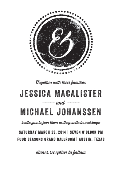 wedding invitations - AND by Rebecca Bowen