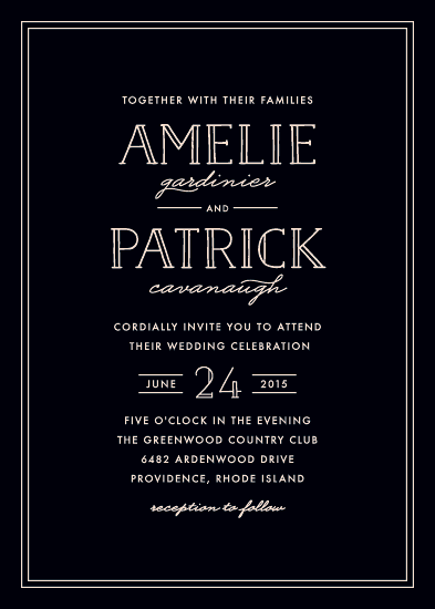 wedding invitations - Inline Chic by Hooray Creative
