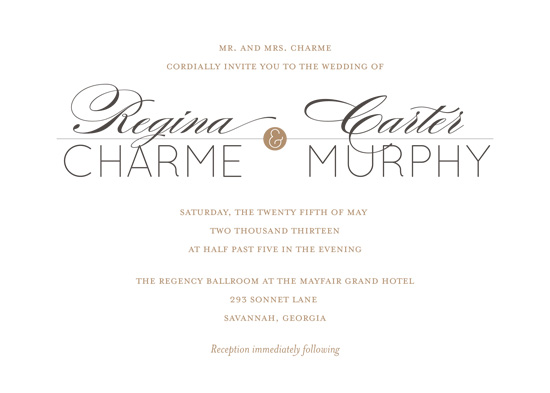 wedding invitations - Modern Charm by Lindsey Chin-Jones