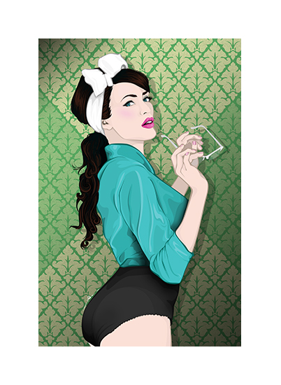 art prints - Green Vintage by Selena Squarzanti