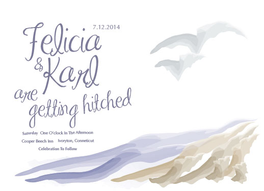 wedding invitations - Down by the shore by Joyrich Design Company