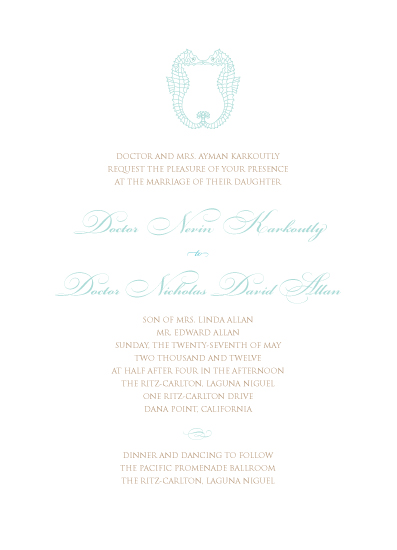 wedding invitations - sea of love by Whitefield Design
