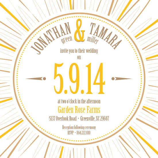 wedding invitations - Sunburst Wedding by Tami Warrington