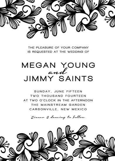 wedding invitations - sweet swirl & leaves by aticnomar