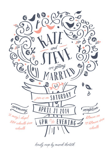 wedding invitations - Orchard by Lori Wemple