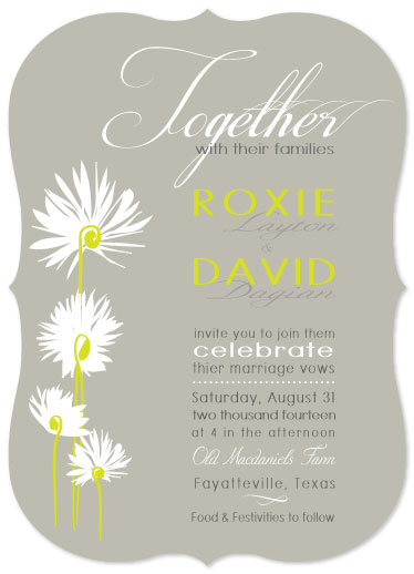 wedding invitations - Modern Dandelions by Leslie Phillips-Greco