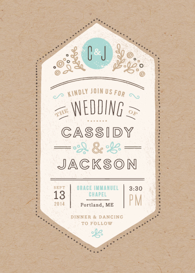wedding invitations - Cartwright by Jennifer Wick