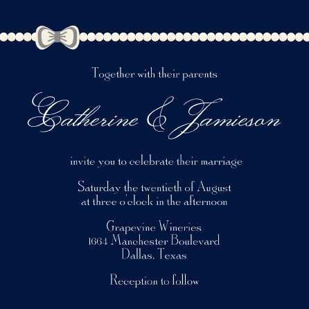 wedding invitations - Pearls and Ties by Cindy Jost