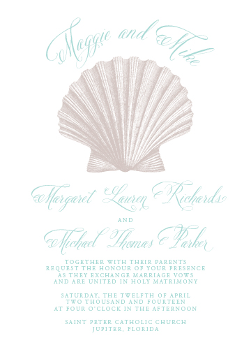 wedding invitations - Smart Scallop Shell by Sennett Designs
