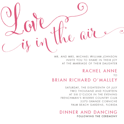 wedding invitations - Love is in the Air by Sennett Designs
