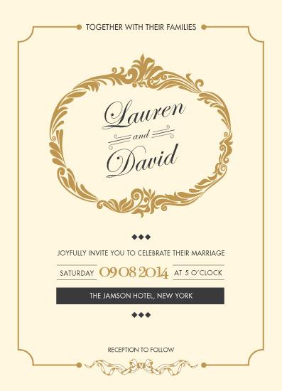 wedding invitations - Simply Classy by Haleema